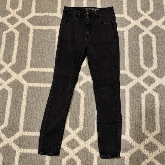 American Eagle Outfitters Denim - Highest Rise Black jeans